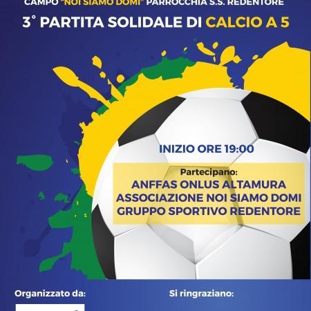 3^ partita solidale di Calcio a 5