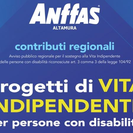 Contributi regionali Progetti di Vita Indipendente